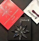 ORREFORS 2018 ORNAMENT, ANNUAL CRYSTAL CHRISTMAS STAR, NIB LP$50