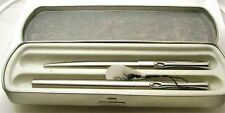 DIPLOMAT TRAVELLER Brushed Stainless Steel Fountain & Ball Point Pen Set