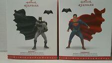 Hallmark 2016 BATMAN V SUPERMAN Dawn of Justice Ornaments Superman and Batman