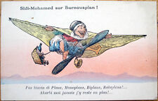 1915 Aviation Postcard: North African Man Airplane- Sidi Mohamed sur Burnousplan