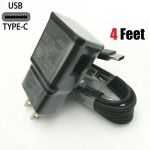 For Samsung Galaxy S20 S10 Note 8 9 10 S8 S9 Plus Fast Wall Charger Type-C Cable