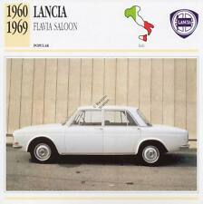 1960-1969 LANCIA FLAVIA SALOON Classic Car Photograph / Information Maxi Card