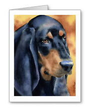 Black And Tan Coonhound Set of 10 Note Cards With Envelopes