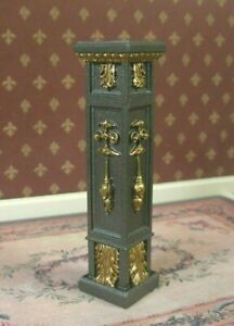 PEDESTAL / PLANT  STAND ~  Bronze/Gold ~Dollhouse~ 1:12 scale ~ Artisan ~ Signed
