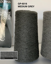 100% Cashmere Yarn - Size 2/26Nm - Col. Medium Grey