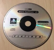 Rétro Playstation PS1 Micro Machines V3 VIDEO GAME DISC ONLY pal platinum PS2