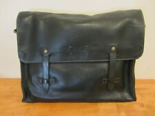 Cole Haan Leather Messenger Bag Briefcase , Black