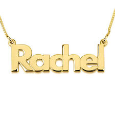 24k Gold Plated Name Necklace - Any Name Personalised Pendant - oNecklace ®