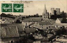 CPA  Cinq-Mars-la-Pile (Indre-et-Loire) -Vue sur l'Eglise et le Cháteau (229101)