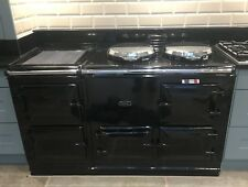 FULLY RECONDITIONED AGA 4 OVEN 13 AMP ELECTRIC IN BLACK, FREE DELIVERY & PLINTH