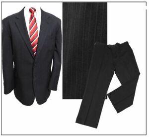 """Taylor & Wright Washable mens Classic 2 piece suit Ch48""""S W42"""" L29 """"Black Stripe"""