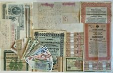 HUGE ECLECTIC LOT OF OLD PAPER MONEY, BONDS, STOCKS, SCRIPOPHILY, MORE. MUST SEE