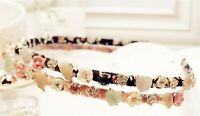 Women Girl Retro Crystal Floral Flower Gem Stone Hair head band Headband Hoop