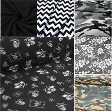 100% Baumwollstoff Meterware Stoff Baumwolle 50/160cm Schwarz Camouflage Öko Tex