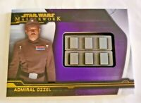 2019 Topps Star Wars Masterwork Admiral Ozzel PURPLE MEDALLION #/50 Imperial