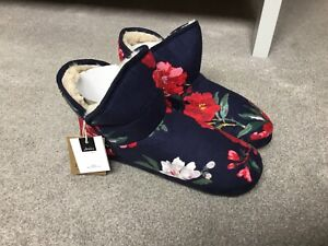 BNWT Joules Navy Slipper Boot Size Large