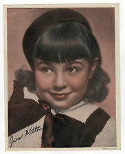 1940s JANE WITHERS Photograph PHOTO Child ACTRESS Facsimile Signature HOLLYWOOD