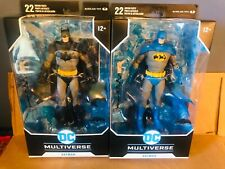 DC MULTIVERSE SET 2 BATMAN DETECTIVE 1000 BLUE VARIANT AND  BLACK ACTION FIGURES