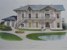 LITHOGRAPHIE VICTOR PETIT ARCHITECTURE XIXE HABITATION DE PLAISANCE BORDEAUX