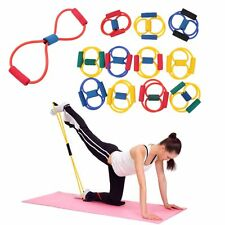 Fitness Resistance Band Rope Tube Elastic Exercise for Yoga Pilates Workout QL