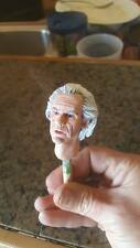custom unpainted back to the future doc brown head for 12 inch body