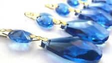 5 Dark Cobalt Blue Teardrop Chandelier Crystals Prisms Wedding Decor Suncatcher