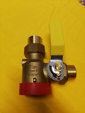 Gas-Eckkugelhahn für Einrohrgaszähler DN25, mit Prüföff., Oventrop Nr.: 3017852