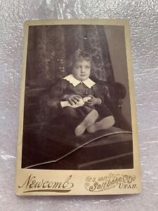 Cabinet Card Photo Girl with a Doll