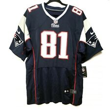 Aaron Hernandez Patriots #81 Nike NFL NWT Rare Blue, Red & White Field Jersey 52