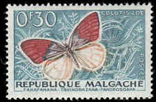 Scott # 306 - 1960 -  ' Butterflies & Agricultural Products ', Colotis zoe