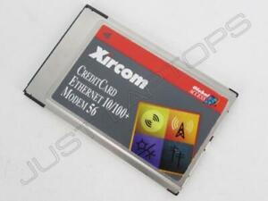 Xircom Crédito Tarjeta Ethernet 10/100 + Módem 56 Pcmcia Tarjeta CEM56-100