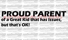 PROUD PARENT Car Truck Window Bumper Decal Sticker Funny Racing Jdm USA #300