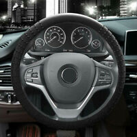 """1X Universal Car Silicone Steering Wheel Cover Black Protector Accessory 13-15"""""""