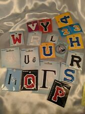 Simplicity Wrights Lot of 19 Applique's Letters Numbers New in Packages Iron On