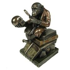 Darwin of Evolution Theory with Monkey by Nemesis Now, Bronze colour G0037A3