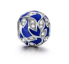 "NinaQueen 925 Sterling Silver ""Vine Leaf"" Enamel Cubic Zirconia Charms"