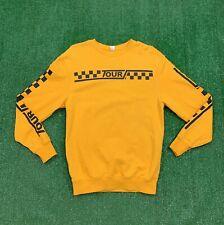 2017 Team Justin Bieber World Tour Crewneck Sweatshirt XS Yellow Concert Band