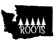 Washington Roots PNW Pacific Northwest Decal