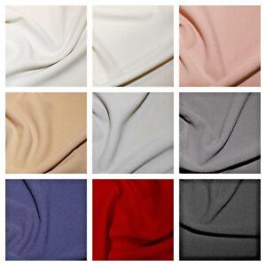 "Scuba Crepe Fabric 4 way Stretch ""Lycra"" Jersey Spandex Material 148cm wide."