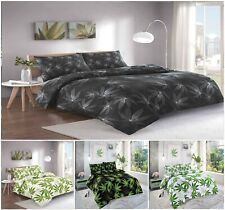 Luxuries CANNABIS LEAF Printed Reversable Duvet Cover+Pillow Case Bedding Set Nz