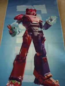 """Fortnite MECHA TEAM LEADER Fabric Wall Hanging Tapestry Photo Backdrop 60"""" X 31"""""""