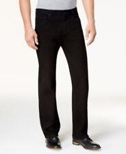$108 CLUB ROOM Men's BLACK JEANS STRAIGHT FIT CASUAL LEG DENIM PANTS 38W 32L