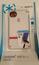 Authentic CandyShell FLIP iPhone 4/4s- White/Rasberry Pink