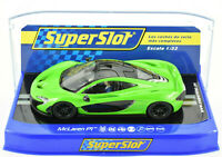 Scalextric Mantis Green McLaren P1 PCR DPR W/ Lights 1/32 Scale Slot Car C3756