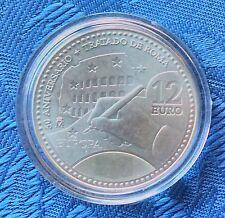 2007 España 12 Euro, Plata .925, 50th aniversario del Tratado de Roma