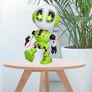 LUUSAMA Mini  Metal Talking Robot Toys with Recording Voice for Kids & Boys