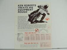 Vintage 1975 Kenny Roberts Flat Track Alloy Rim Brochure Yamaha L1236