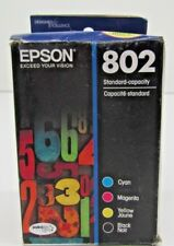 Epson T802 Black and Color Standard Capacity Ink Cartridges