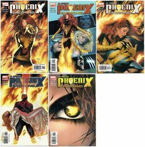 X-Men Phoenix Endsong #1-5 Complete Series Marvel (2005) VF/NM