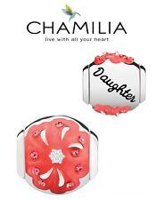 BNIB CHAMILIA 925 silver, enamel & Swarovski RADIANT BLOOMS DAUGHTER charm bead